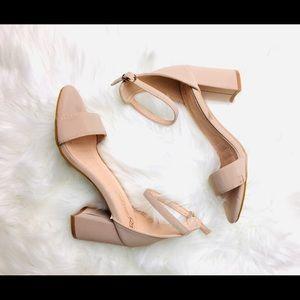QUPID Open-toe Block Heel Sandal